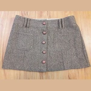 NEW American Eagle Outfitters Wool Mini Skirt
